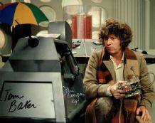 Tom Baker and John Leeson Signed Photo - Doctor Who